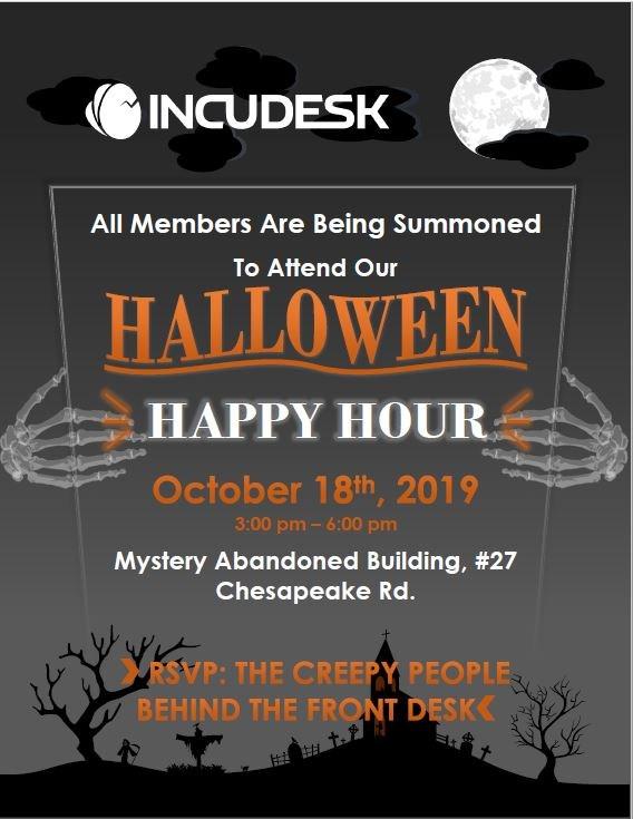 INCUDESK Members Halloween Happy Hour